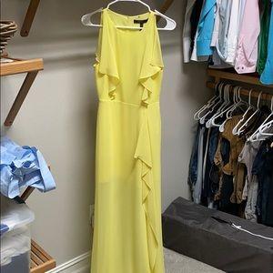 BCBG MAXAZRIA canary yellow dress size 0
